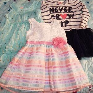 3 piece baby girl 2t bundle